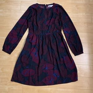 Loft beautiful fit and flare sleeved dress